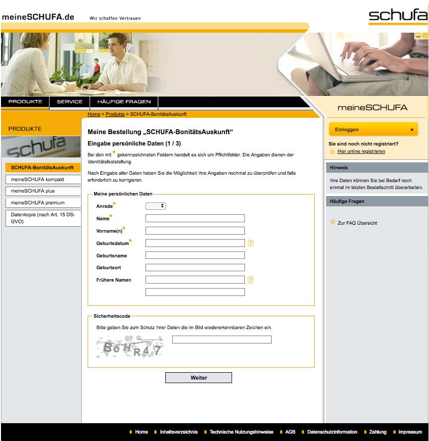 Schufa Auskunft Kostenlos Online Beantragen So Geht S 5